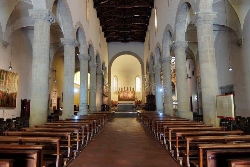 天主教会Cattedrale二圣乔瓦尼Evangelista内部  库存照片