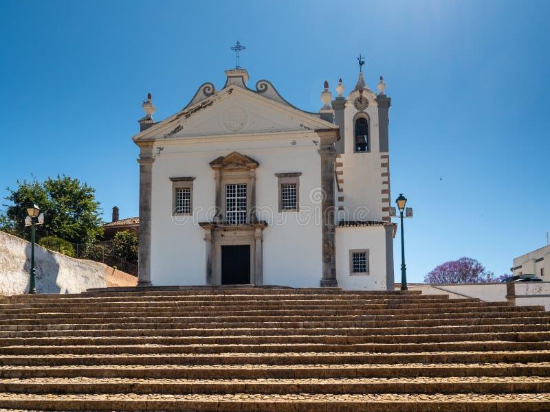 天主教会Igreja Matriz de Estoi 免版税库存照片