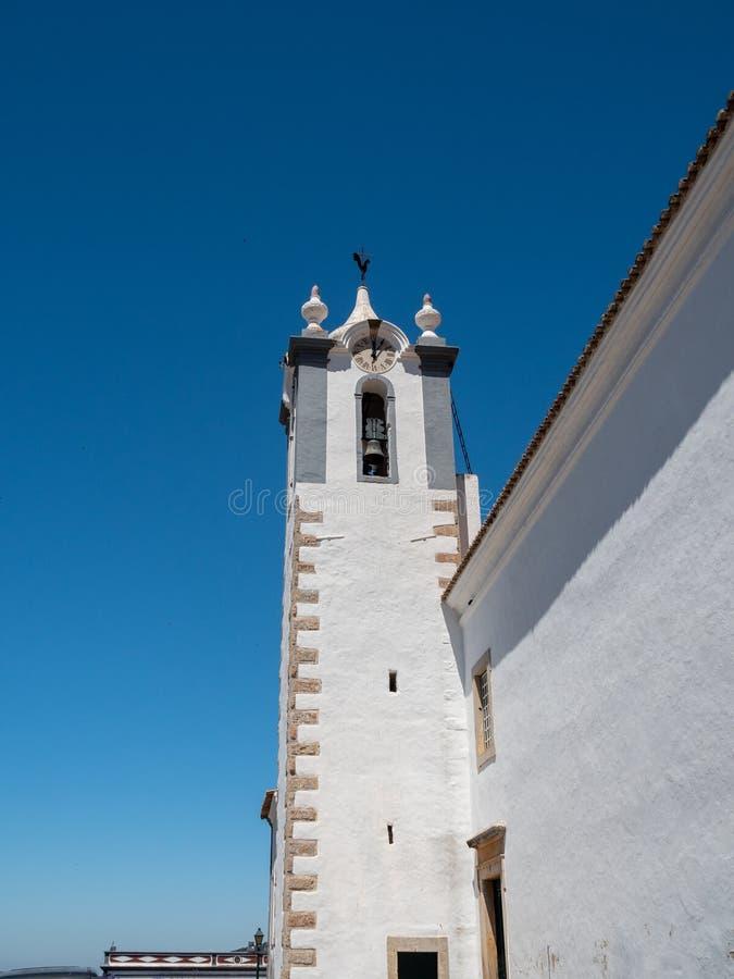 天主教会Igreja Matriz de Estoi 库存图片