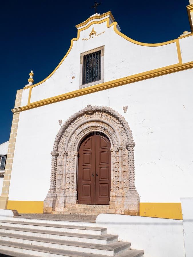 天主教会Matriz de Alvor,葡萄牙 库存图片
