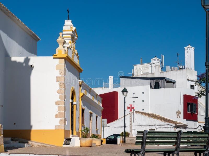 天主教会Matriz de Alvor,葡萄牙 免版税库存照片