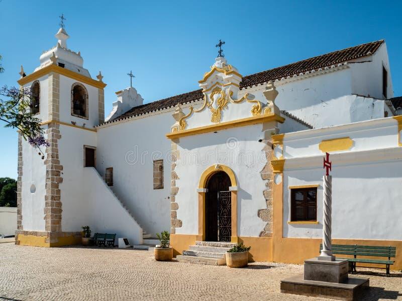 天主教会Matriz de Alvor,葡萄牙 库存照片