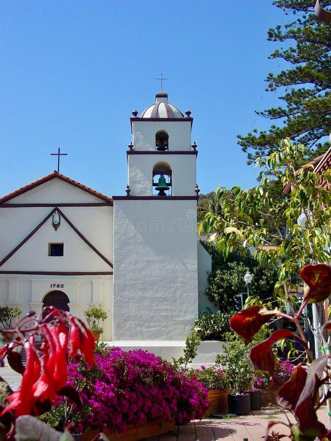 天主教和使命在圣塔巴巴拉 免版税图库摄影