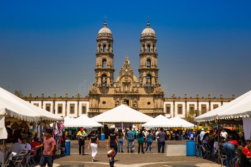 天主教在萨波潘在瓜达拉哈拉 库存图片