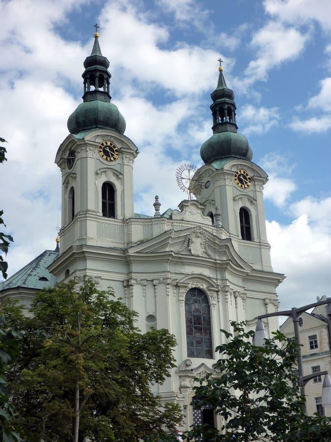 天主教大教堂,卡洛维变化,捷克 库存照片