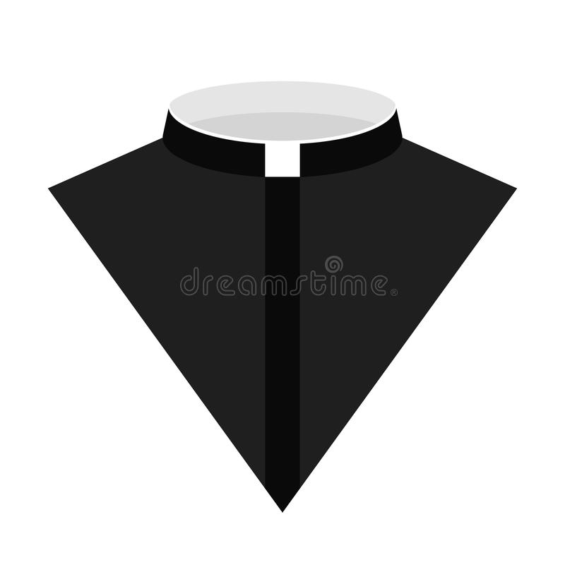 天主教教士礼服象传染媒介例证 免版税库存照片