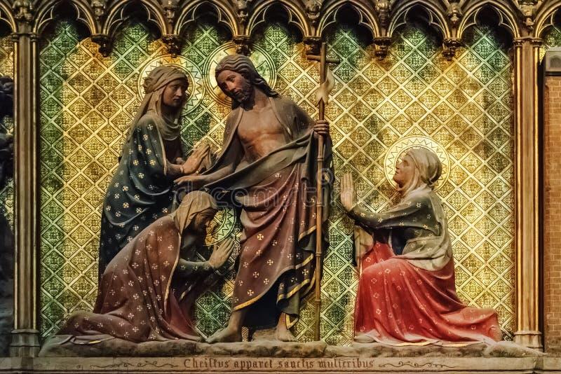 天主教的壁画 库存图片