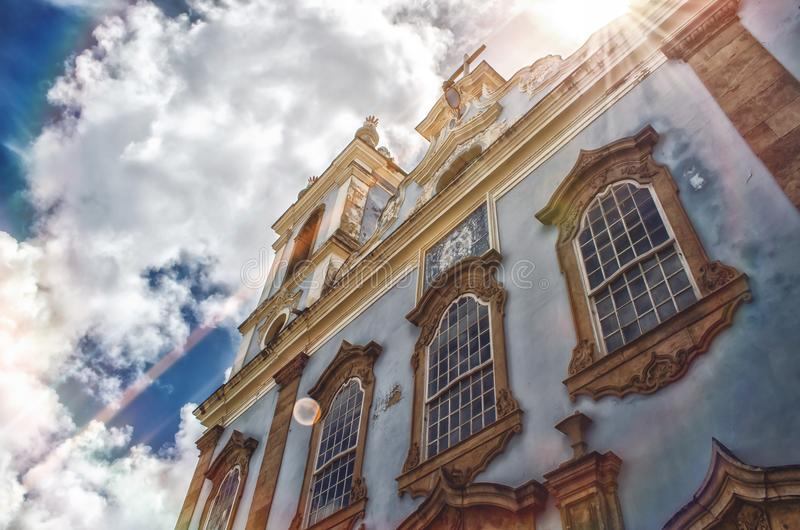 天主教-萨尔瓦多-巴伊亚 巴西|Rubem Sousa 论坛Box® 免版税库存照片