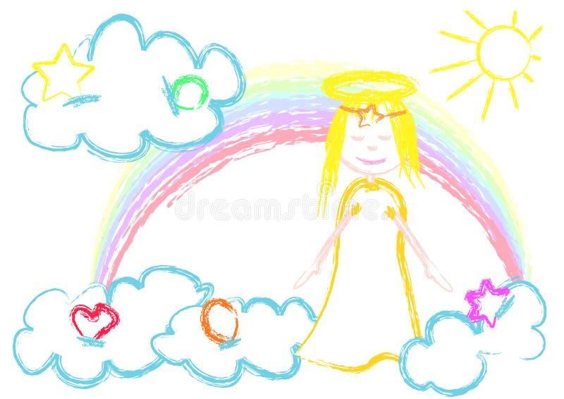 天使一点 库存例证