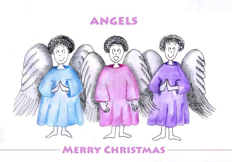 天使三 向量例证