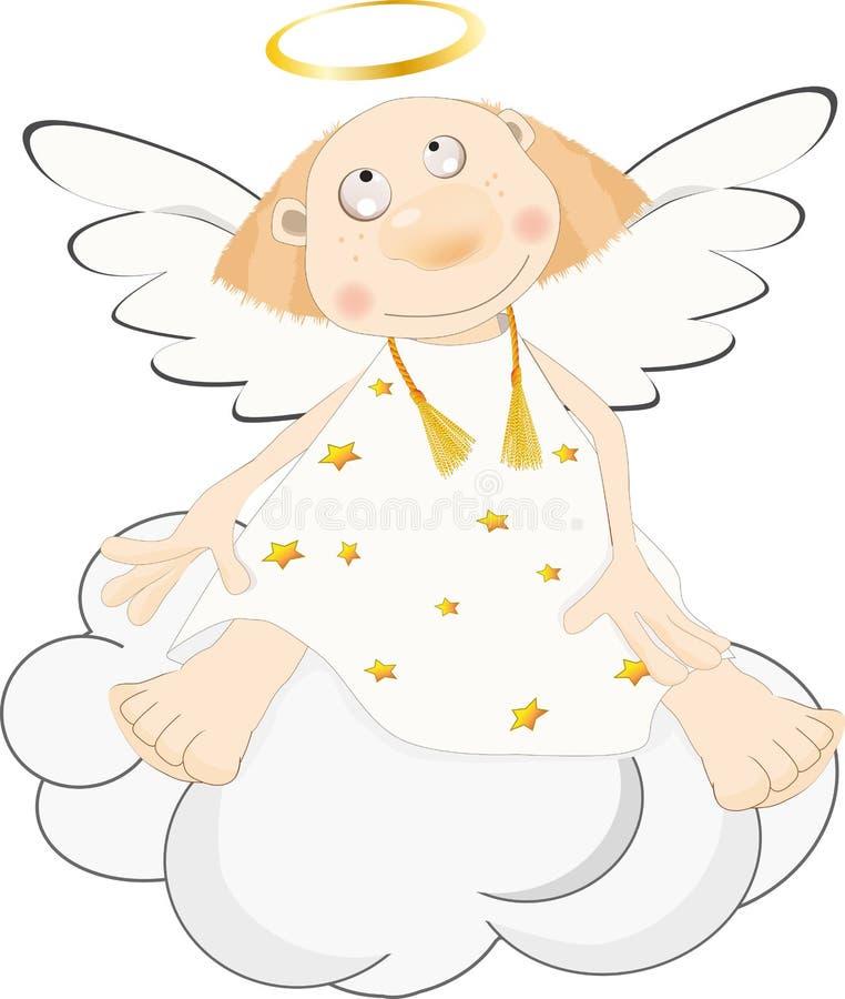 天使云彩 向量例证