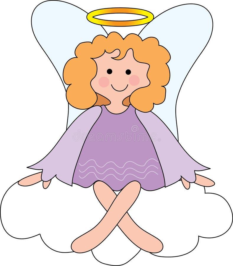 天使云彩 库存例证