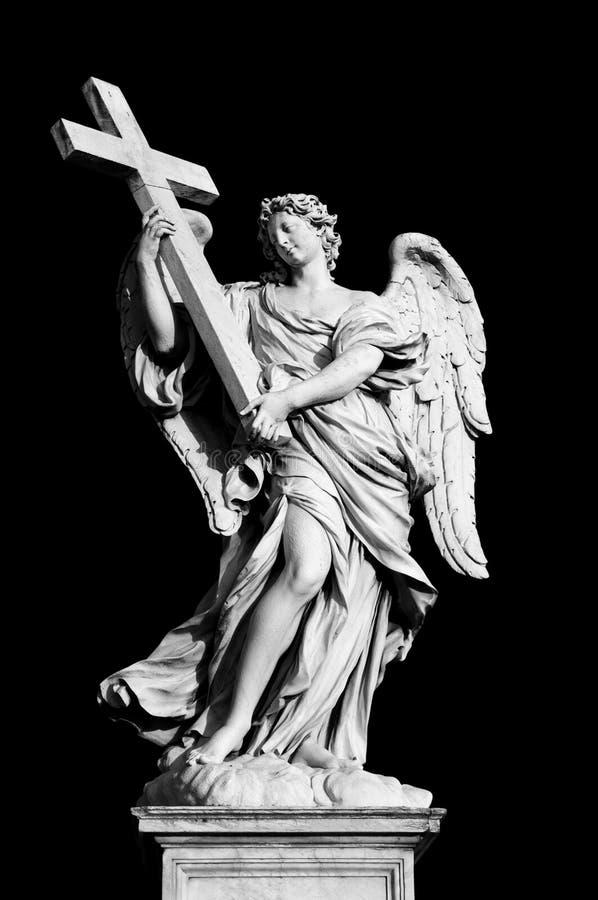天使交叉 免版税图库摄影