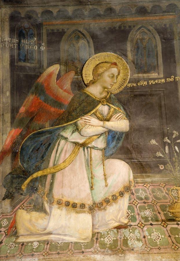 天使佛罗伦萨壁画 免版税库存图片