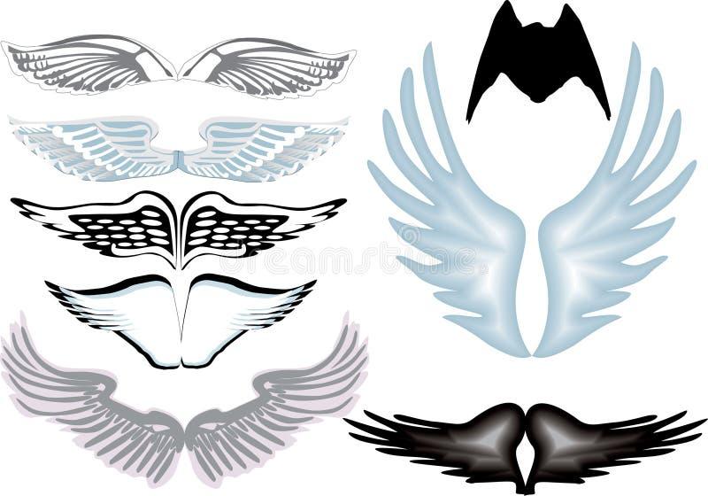 天使八翼 库存例证