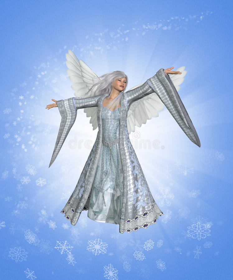 天使冬天 库存例证