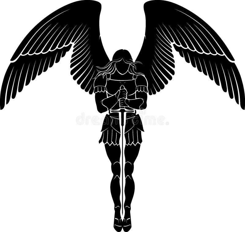 天使剑思考 库存例证