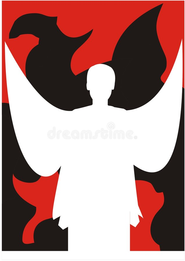 天使向量白色 库存图片