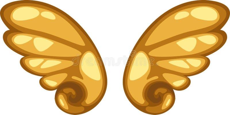 天使向量翼 库存例证