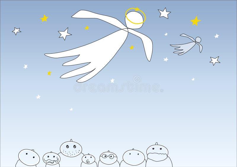 天使向量 库存例证