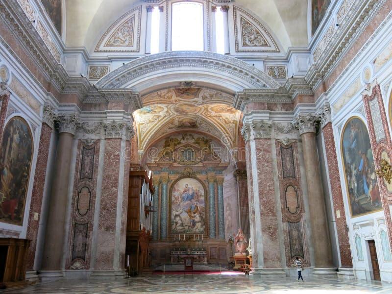 天使和受难者,罗马的圣玛丽大教堂  图库摄影