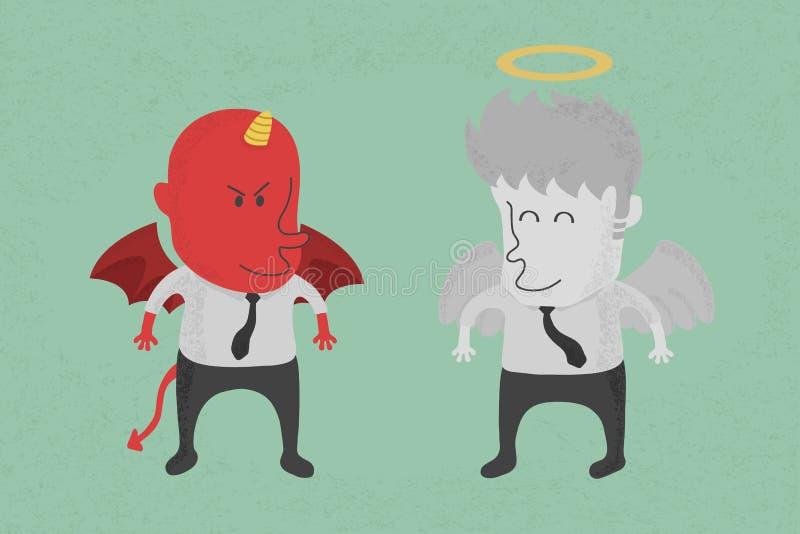 天使和恶魔 皇族释放例证