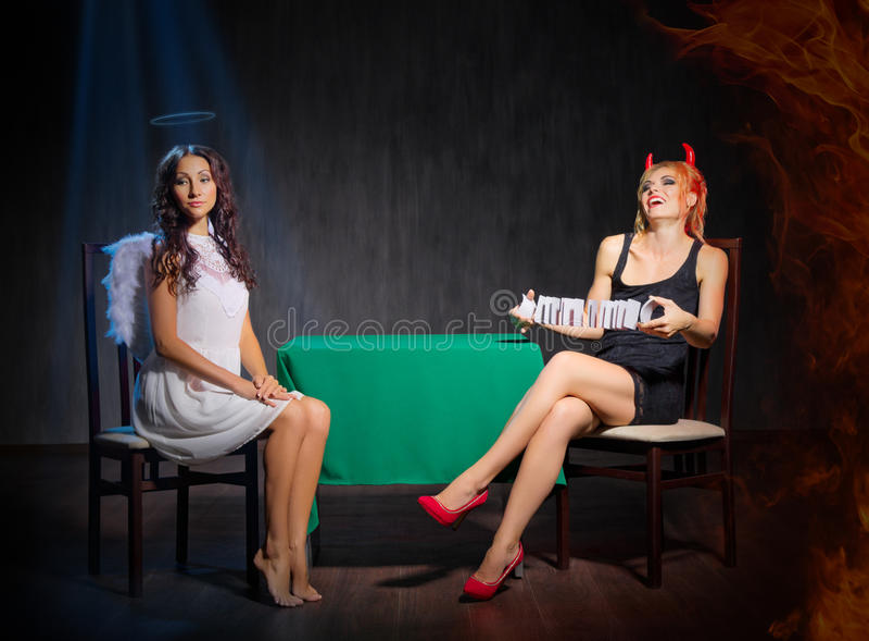 天使和恶魔 免版税库存图片