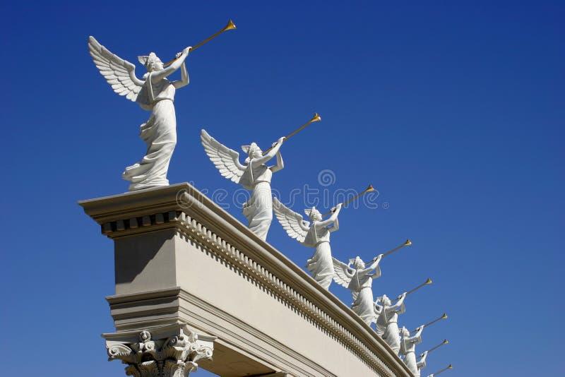 天使喇叭 库存照片