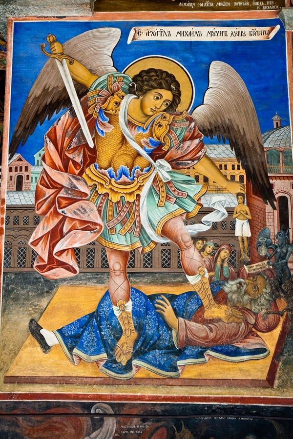 天使图标迈克尔 免版税库存图片