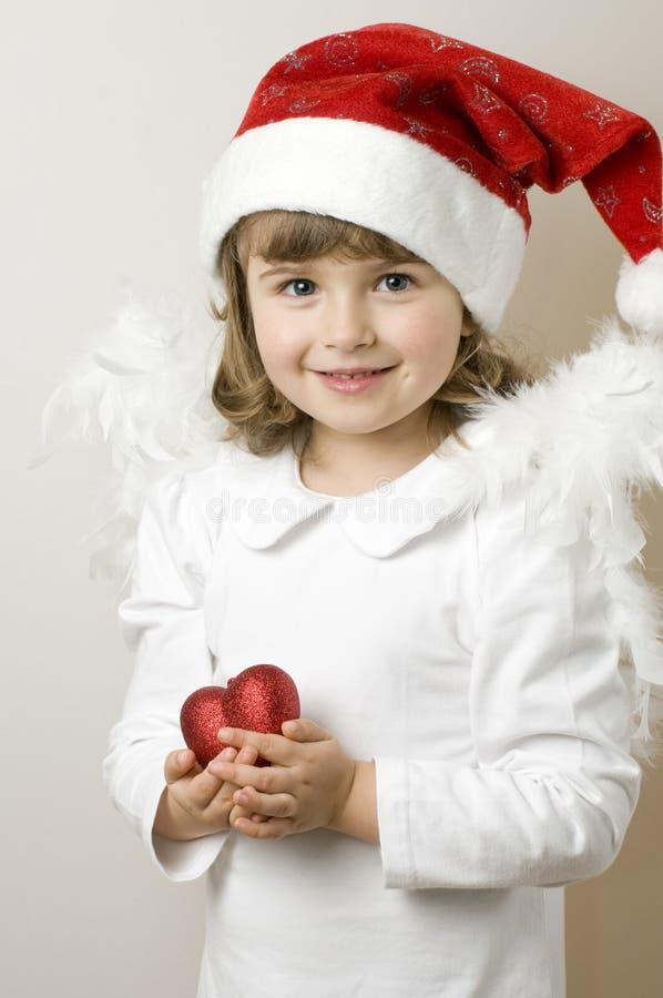 天使圣诞节一点 库存照片