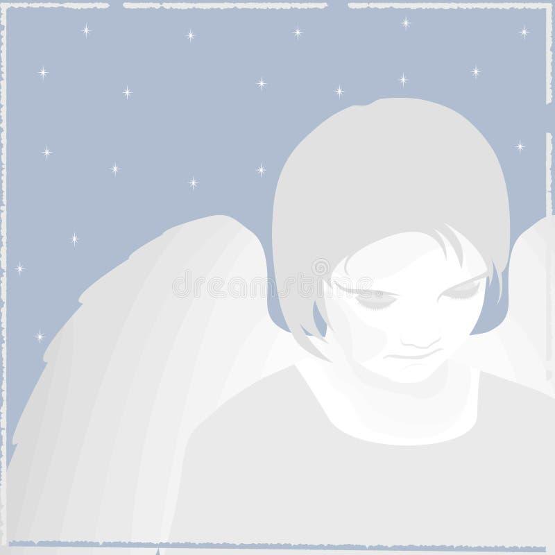 天使圣诞节向量 向量例证