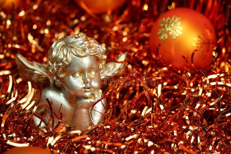 天使圣诞节桔子 库存图片