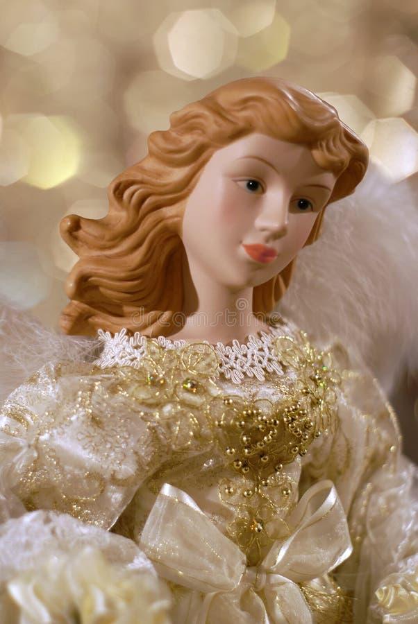 天使圣诞节特写镜头 图库摄影