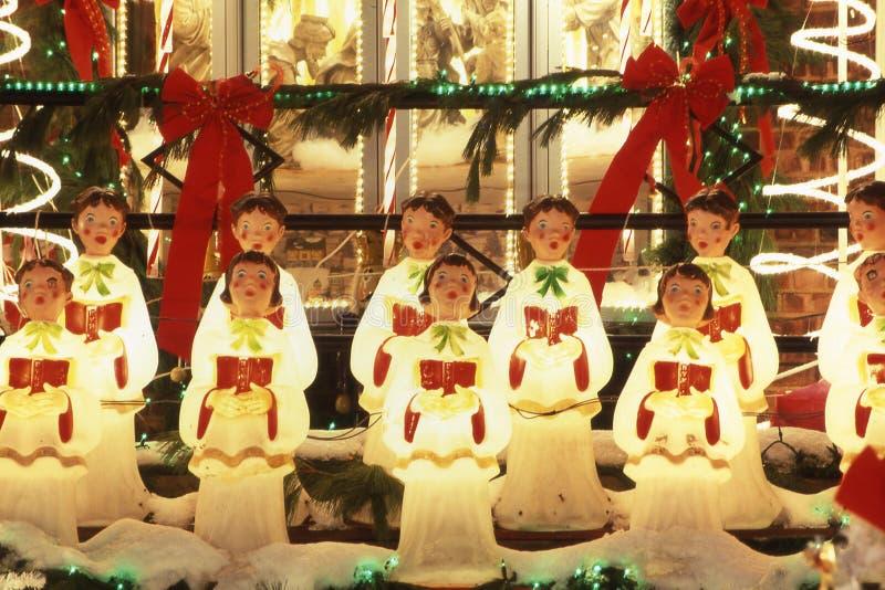天使圣诞节装饰 免版税库存图片