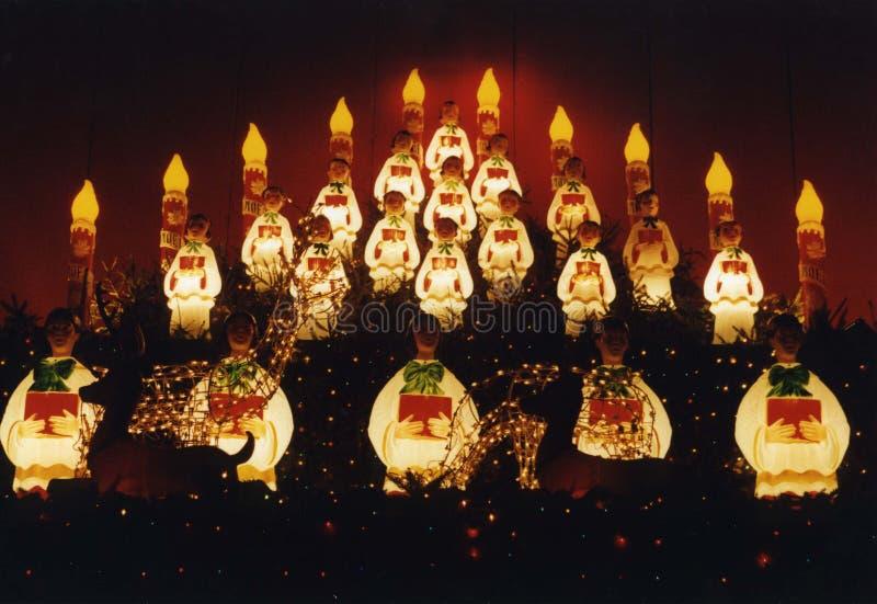天使圣诞节装饰 库存图片