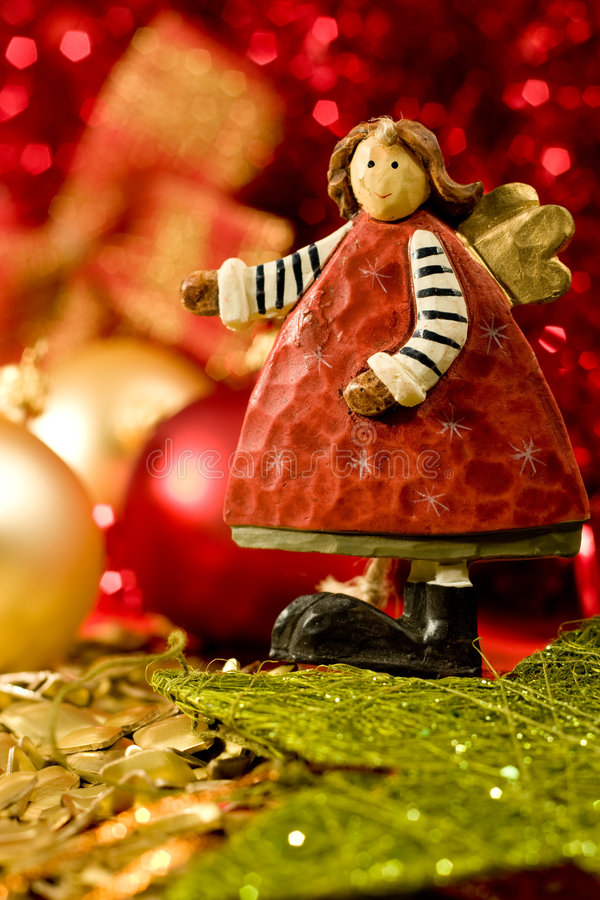天使圣诞节 库存图片