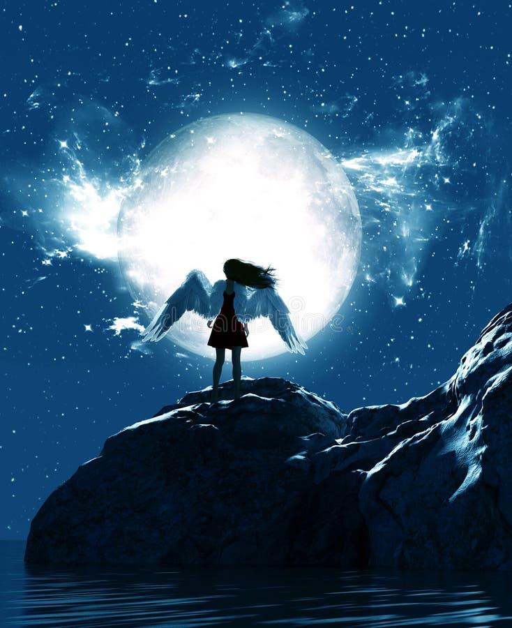 天使在天堂土地 向量例证