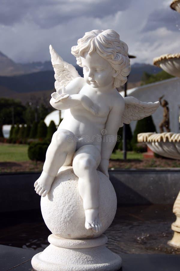 天使在Rukh Ordo,吉尔吉斯斯坦 库存照片