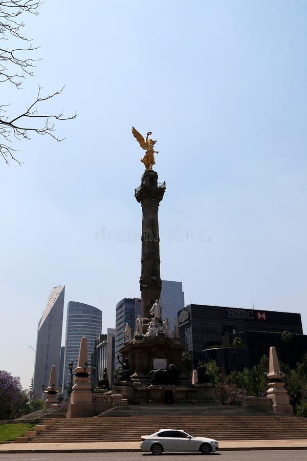 天使城市独立墨西哥 库存图片