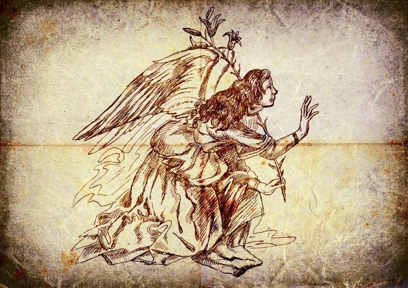 天使基布里埃尔 向量例证