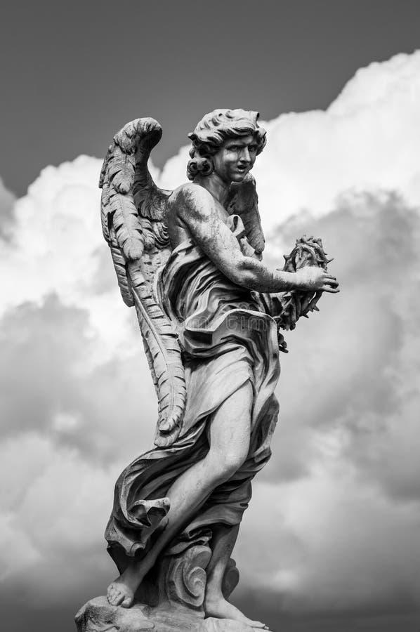 天使大理石象在罗马 免版税图库摄影