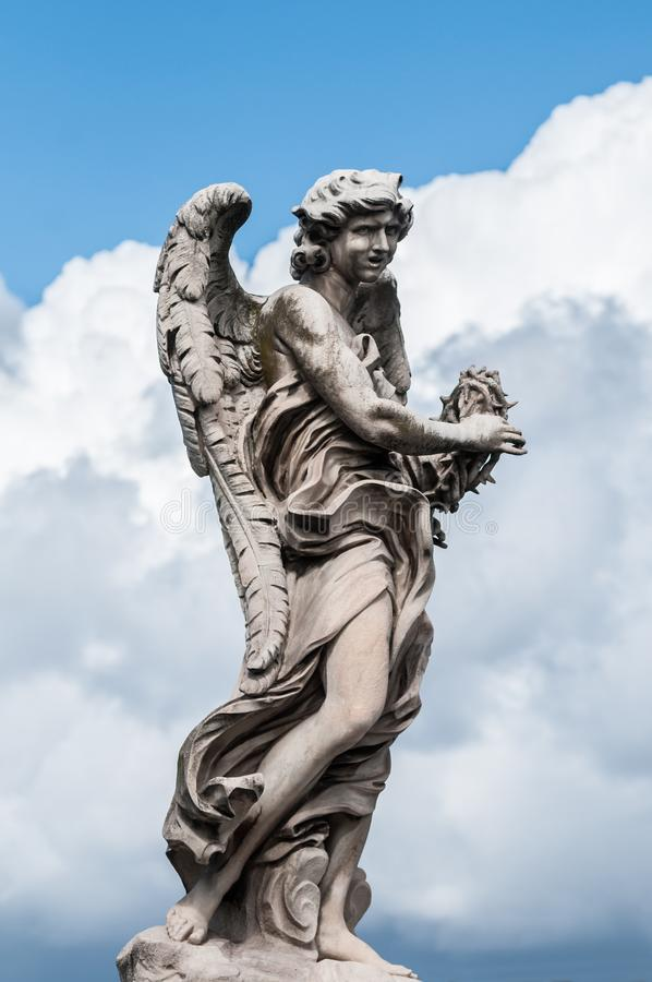 天使大理石象在罗马 图库摄影