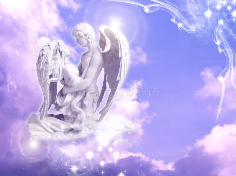 天使天使 库存例证