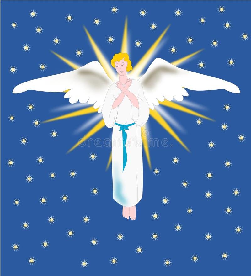 天使天堂 向量例证