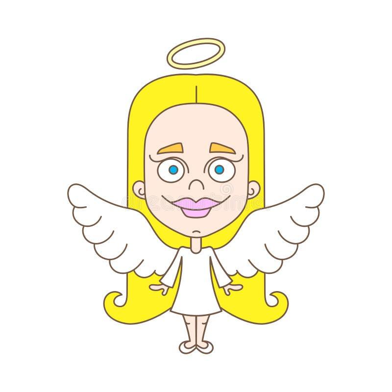 天使女孩一点 皇族释放例证