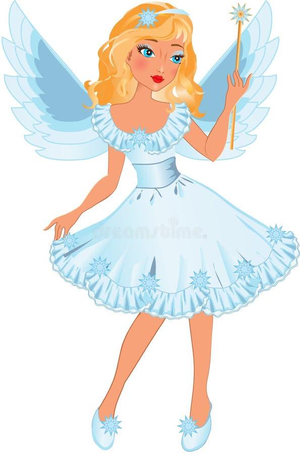 天使女孩一点 向量例证