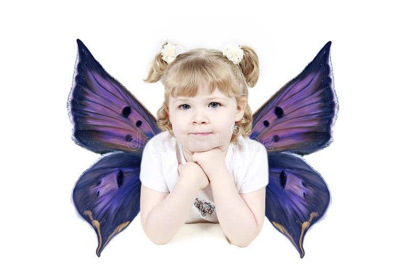 天使女孩年轻人 免版税库存照片