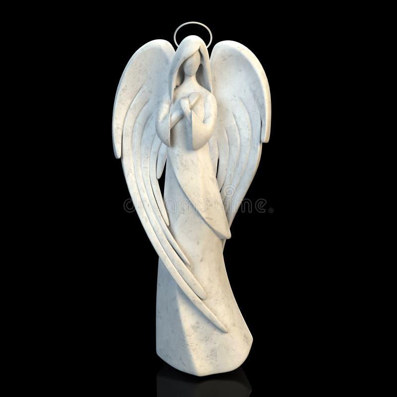 天使女孩的抽象图 向量例证