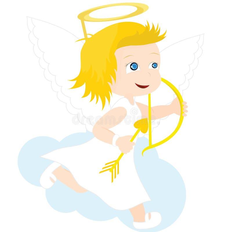天使女孩 皇族释放例证