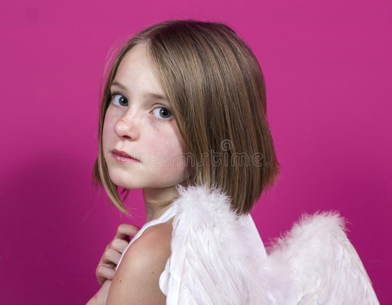 天使小女孩 库存照片